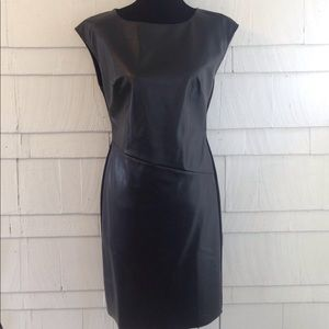 Catherine Malandrino faux leather dress Medium
